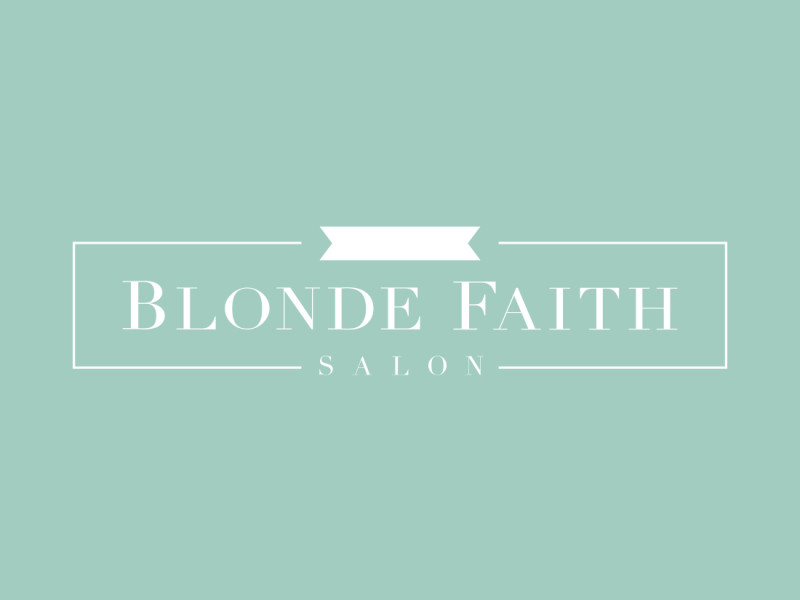 Blonde Faith Salon logo design
