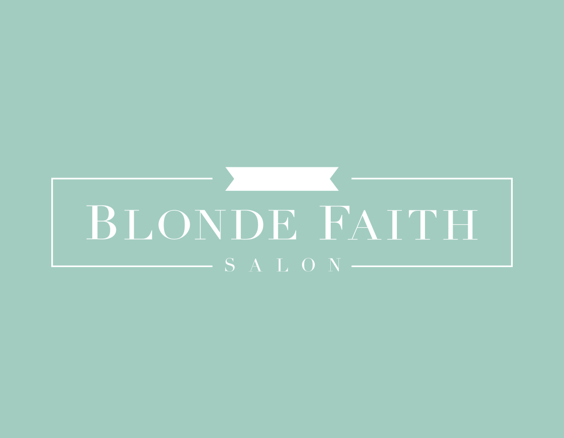 Blonde Faith Salon logo design