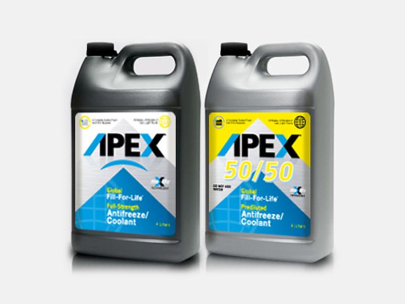 APEX Antifreeze & Coolant label/bottle