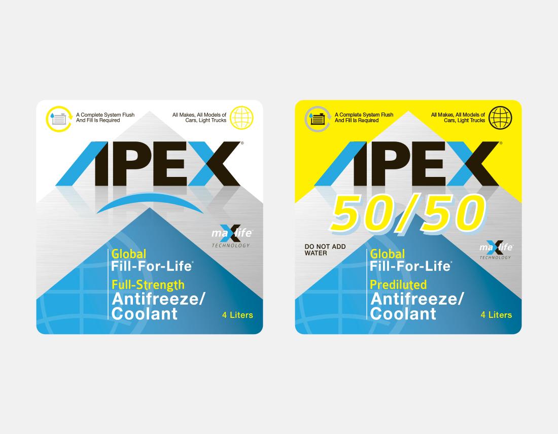 APEX Antifreeze & Coolant labels