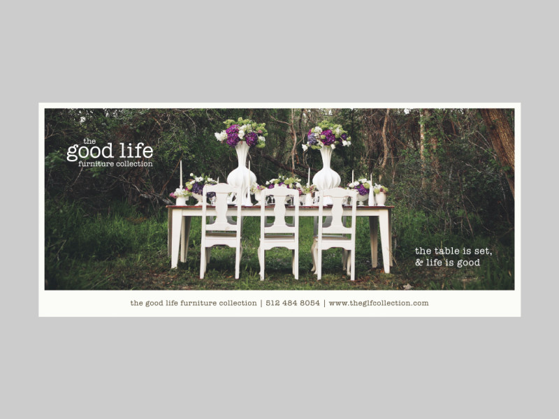 The Good Life Furniture Collection brochure card