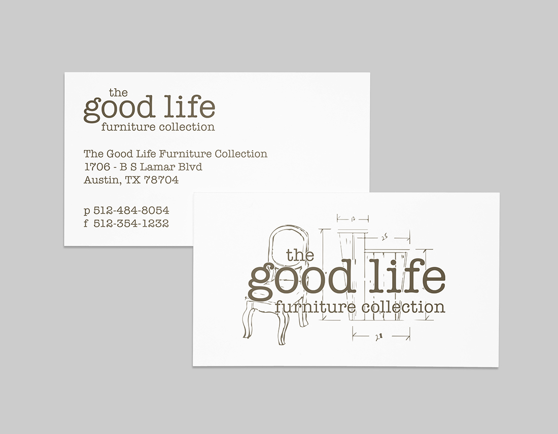 The Good Life Furniture Collection business card