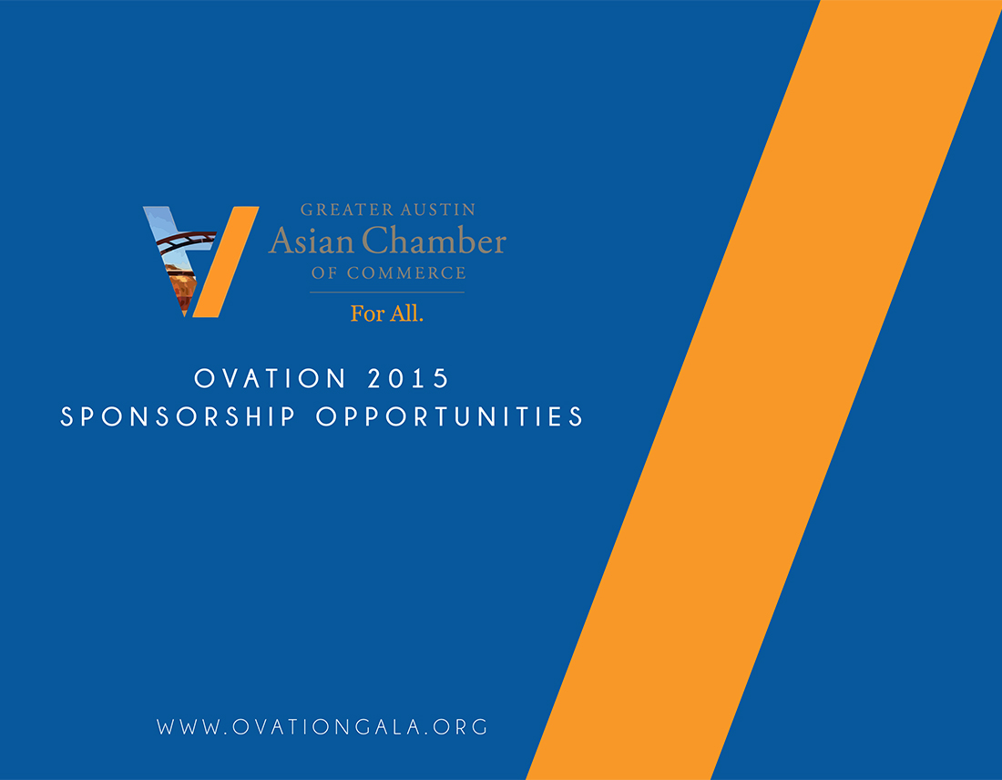 Greater Austin Asian Chamber of Commerce (GAACC) sponsorship deck for Ovation 2015