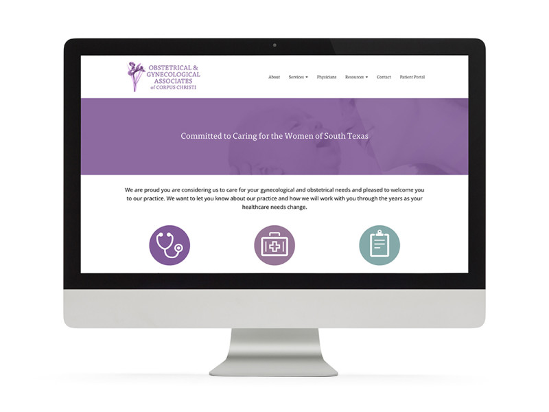 OBGYN Associates of Corpus Christi website