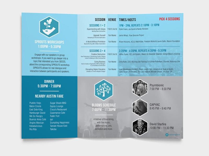 Voice & Exit 2015 program / schedule