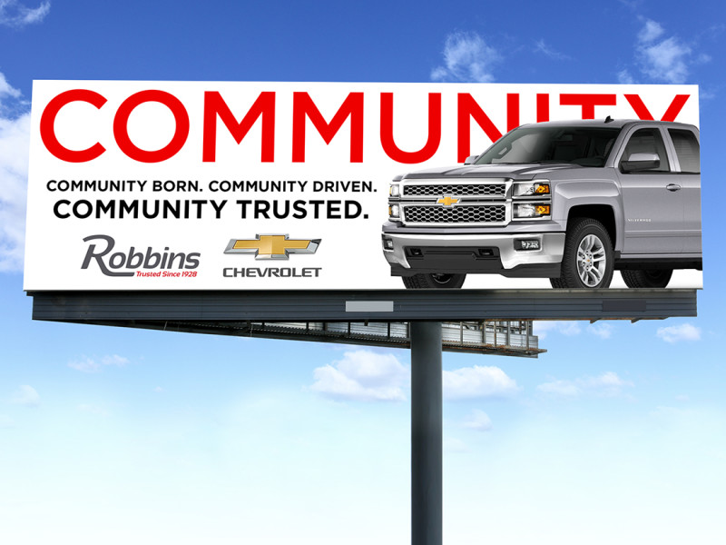 Robbins Auto Mall billboard