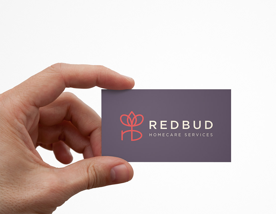 RedBud HomeCare Services business card design