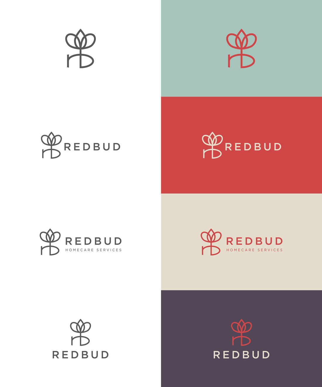 RedBud HomeCare Services logo variations