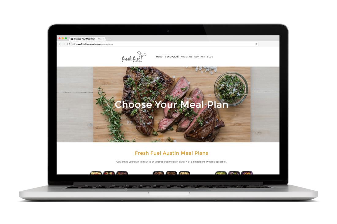 Fresh Fuel Austin website