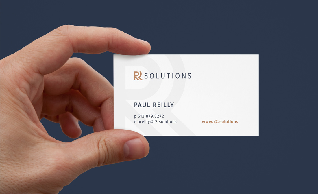 R2 Solutions business card design