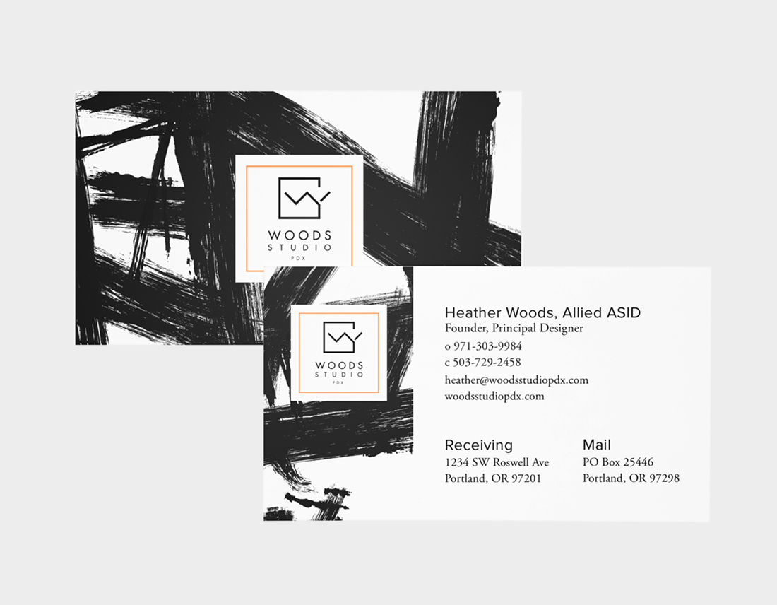Woods Studio PDX standard business card