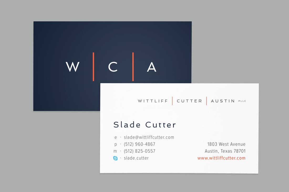 Wittliff | Cutter | Austin PLLC business card design