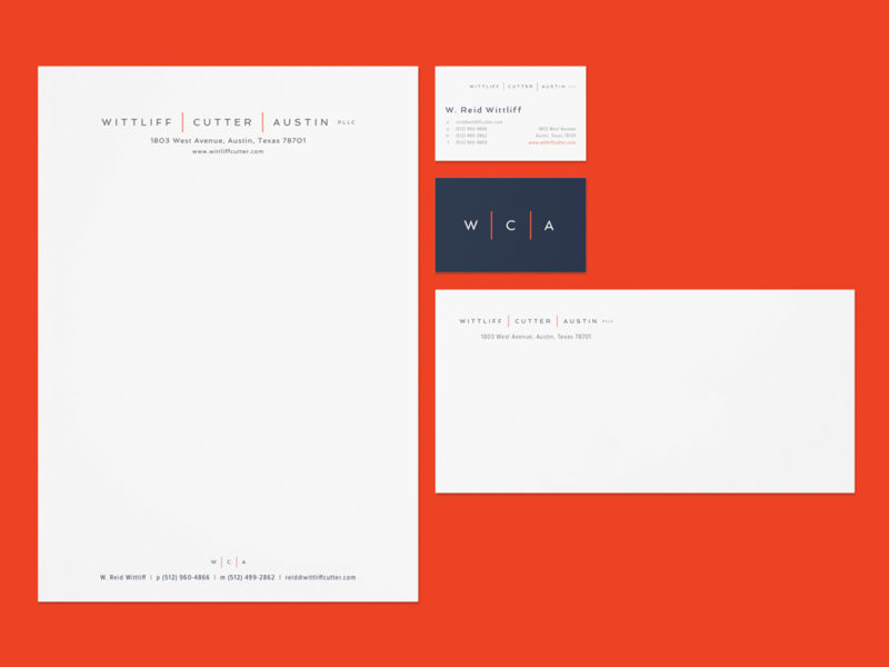 Wittliff | Cutter | Austin PLLC stationery system design