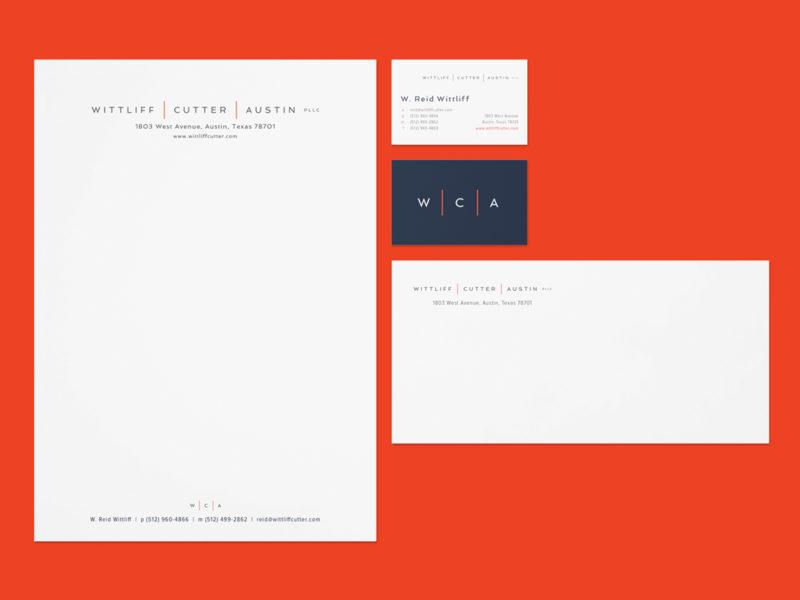 Wittliff | Cutter | Austin PLLC stationery system design