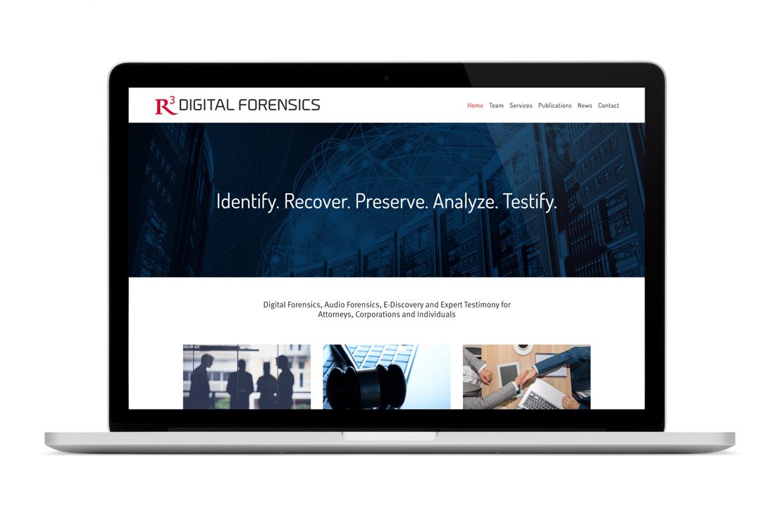 R3 Digital Forensics website