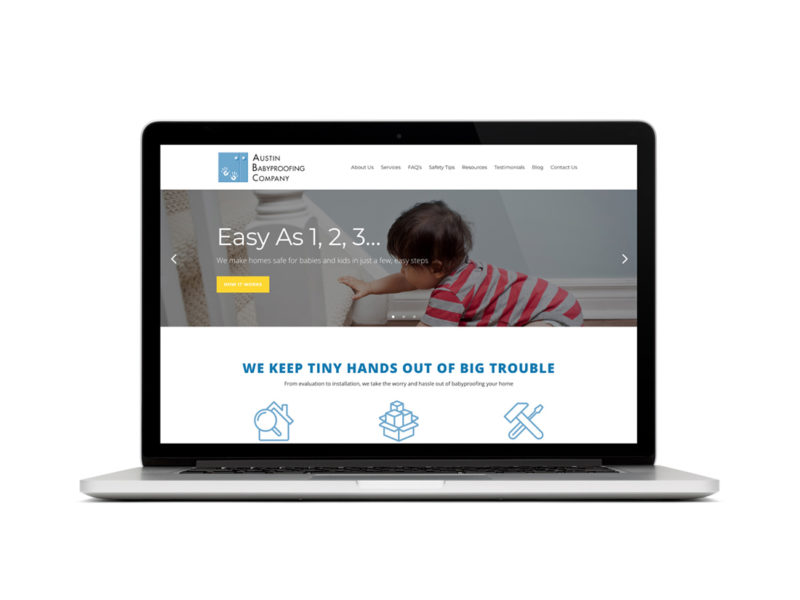 Austin Babyproofing Company website redesign