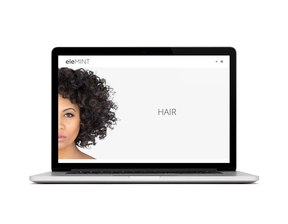 eleMINT Nutritional Beauty website