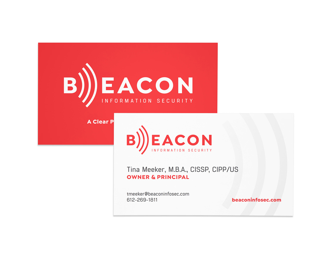 Beacon Information Security business cards