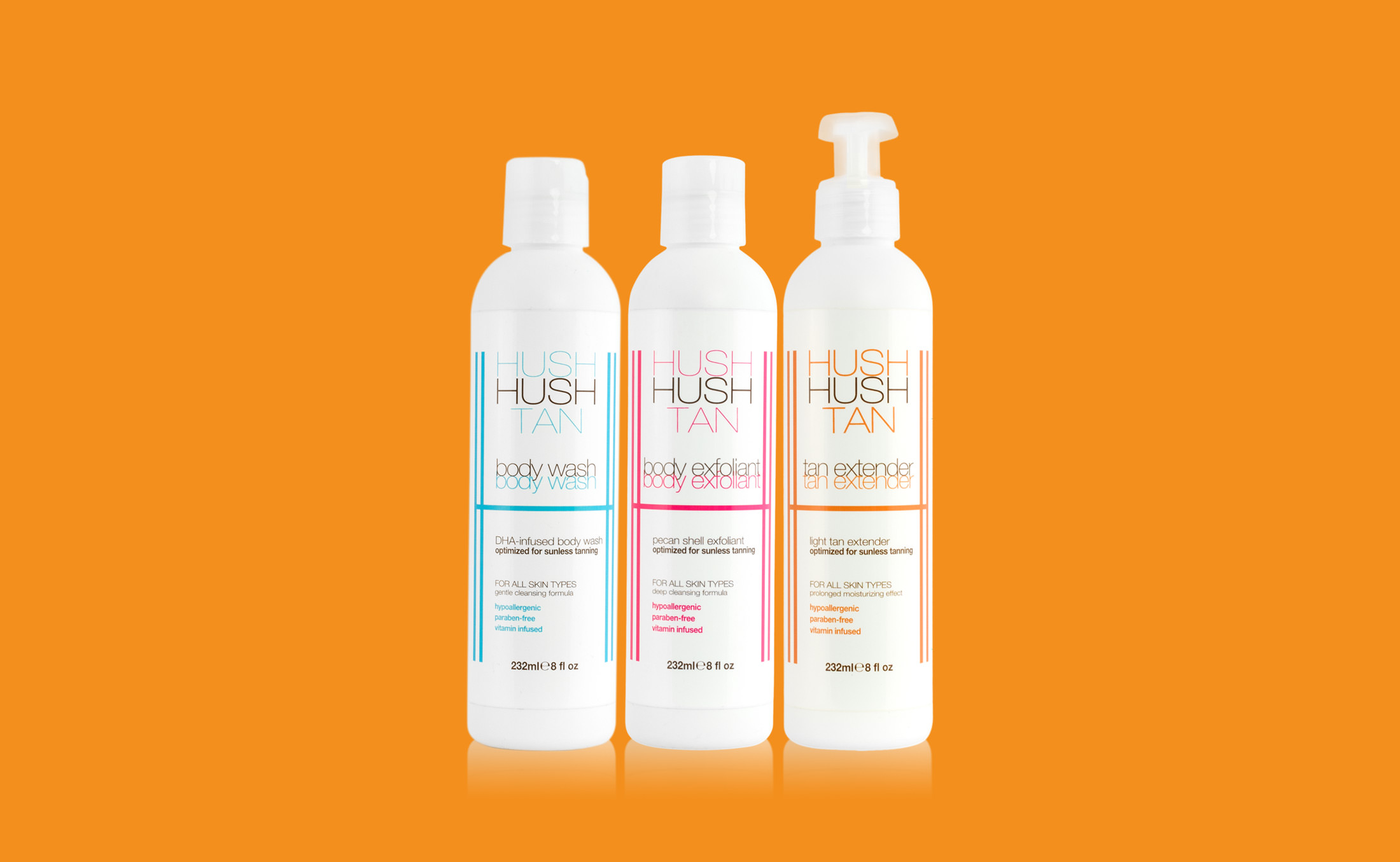 Hush Hush Tan product photography