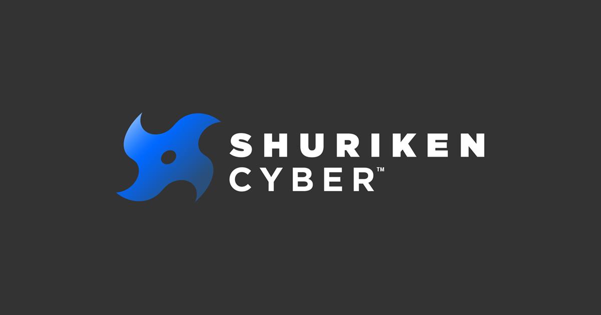 Shuriken Cyber logo, side lockup