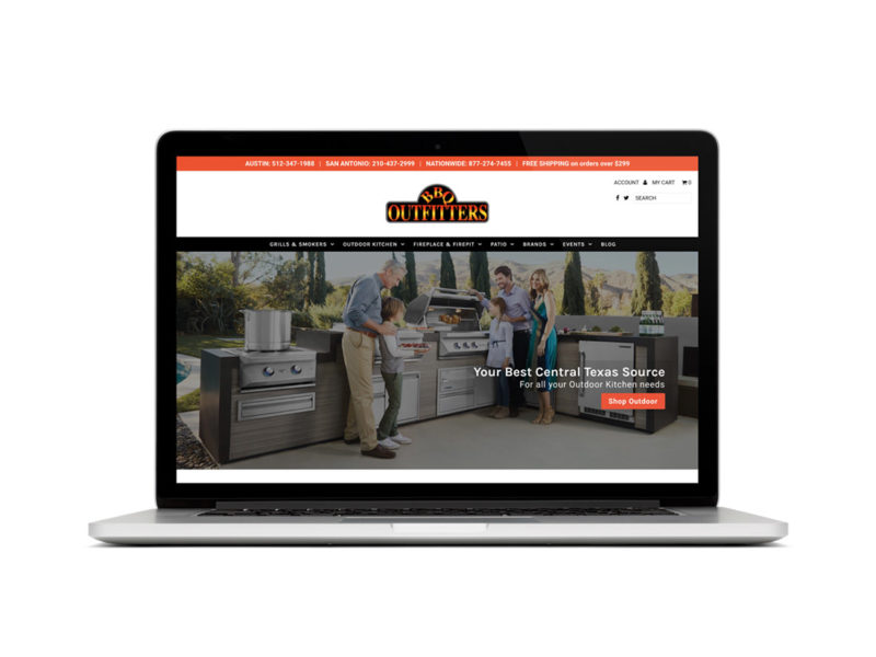 BBQ Outfitters website